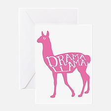 Pink Drama Llama Greeting Card