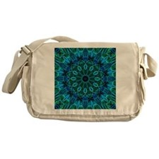 Blue Green flower gems Messenger Bag