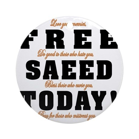 FREE SAEED TODAY Round Ornament