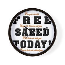 FREE SAEED TODAY Wall Clock