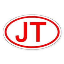 JT Oval (Red) Oval Decal