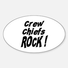 Crew Chiefs Rock ! Oval Decal