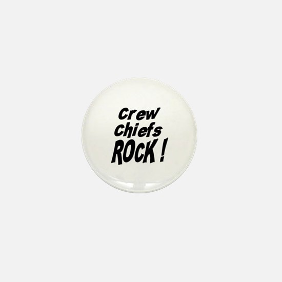 Crew Chiefs Rock ! Mini Button