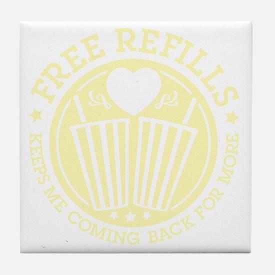 Free Refills Tile Coaster
