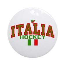 IT Italy Italia Hockey Ornament (Round)