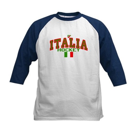IT Italy Italia Hockey Kids Baseball Jersey