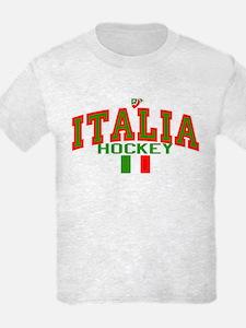 IT Italy Italia Hockey T-Shirt