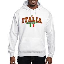 IT Italy Italia Hockey Hoodie