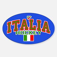 IT Italy Italia Hockey Oval Decal