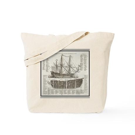 Ship Shower Curtain Tote Bag