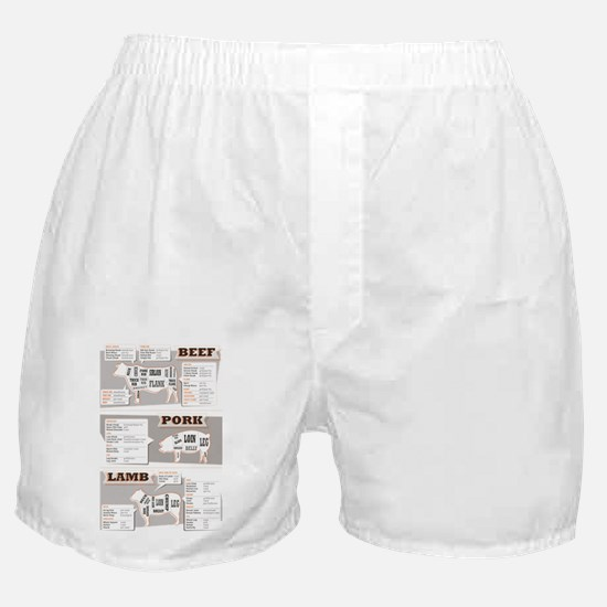 Beef cuts Boxer Shorts