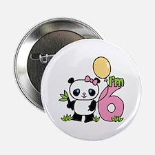 Lil' Panda Girl 6th Birthday Button