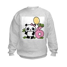 Lil' Panda Girl 6th Birthday Sweatshirt