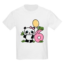 Lil' Panda Girl 6th Birthday T-Shirt