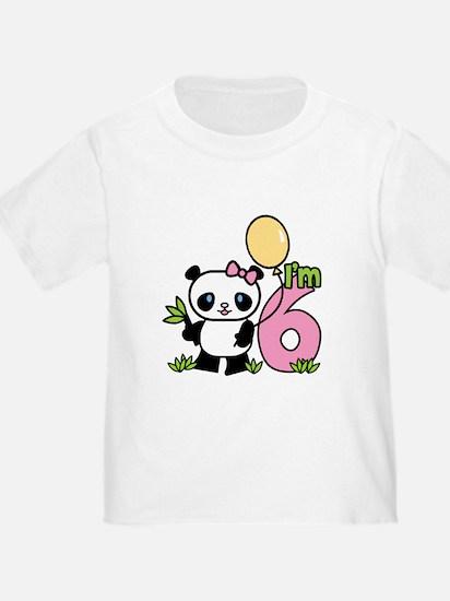 Lil' Panda Girl 6th Birthday T