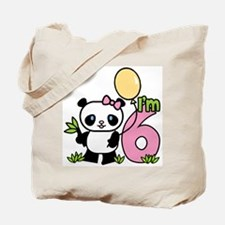Lil' Panda Girl 6th Birthday Tote Bag