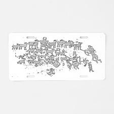 Petroglyph2 Aluminum License Plate