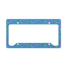 Girly Purple and Blue Hearts License Plate Holder