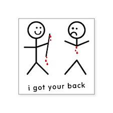 "Blood Dripping I Got Your B Square Sticker 3"" x 3"""