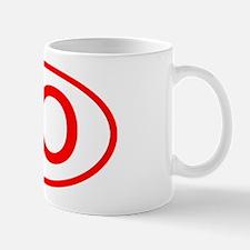 JO Oval (Red) Mug