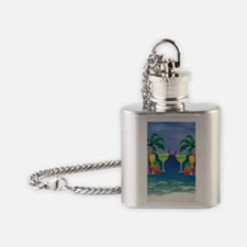 Tropical Drinks Flask Necklace