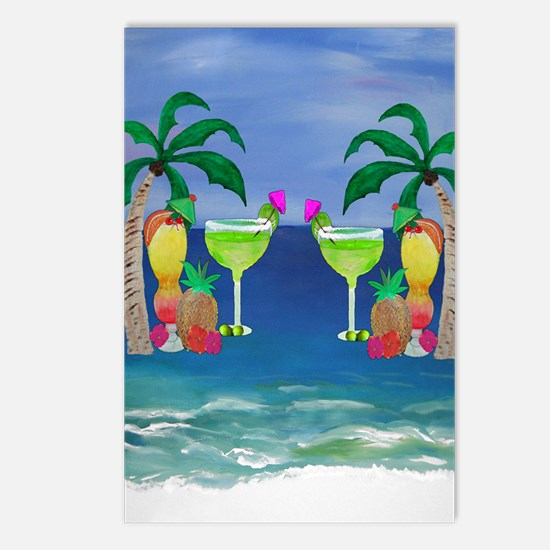 Tropical Drinks Postcards (Package of 8)