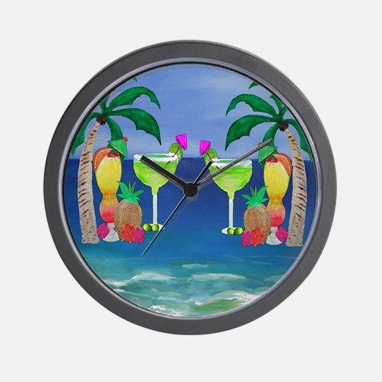 Tropical Drinks Wall Clock