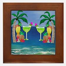 Tropical Drinks Framed Tile