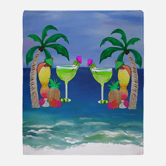 Tropical Drinks Throw Blanket