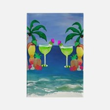 Tropical Drinks Rectangle Magnet