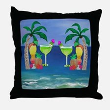 Tropical Drinks Throw Pillow