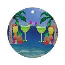 Tropical Drinks Round Ornament