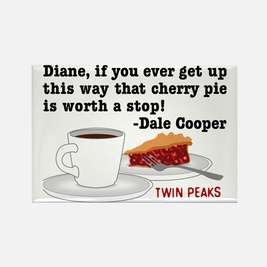 Twin Peaks Diane Cherry Pie Rectangle Magnet