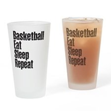 basketball Eat Sleep Repeat Drinking Glass