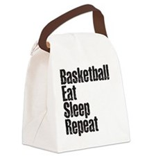 basketball Eat Sleep Repeat Canvas Lunch Bag
