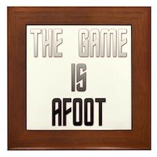 The Game Is Afoot Framed Tile