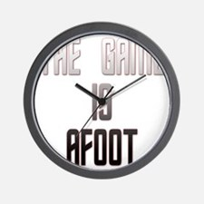 The Game Is Afoot Wall Clock