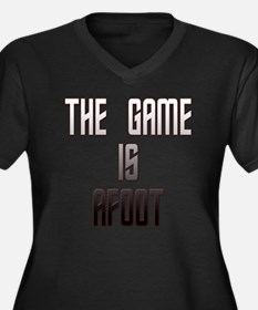 The Game Is  Women's Plus Size Dark V-Neck T-Shirt