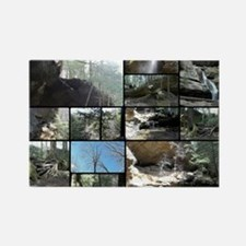 Hocking HIlls State Park Collage Rectangle Magnet