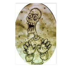 Cartoon Zombie Postcards (Package of 8)