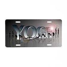 YOGA Bold Aluminum License Plate