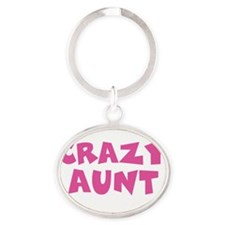 Crazy Aunt Oval Keychain