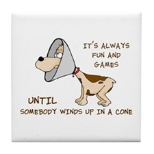 DOG CONE Tile Coaster