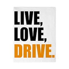 live, love drive  Twin Duvet