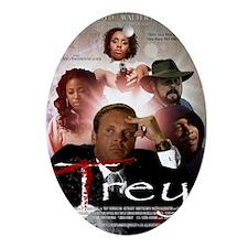 Trey Movie Poster Oval Ornament