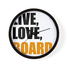 Board Wall Clock