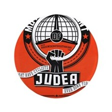 """Motorists' Front of Judea solid red 3.5"""" Button"""