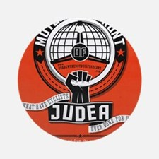 Motorists' Front of Judea solid red Round Ornament