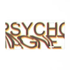 Psycho Magnet Color Glass E Aluminum License Plate