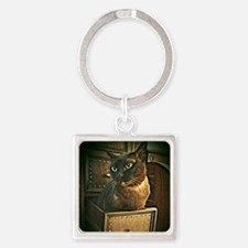 Kiwi the Burmese Cat Square Keychain